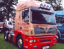 One of the Roger's last Foden Alpha tractor units was displayed onthe manufacturer's stand at Truckfest Scotland